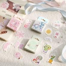 50 unids/pack japonés torta de la planta Mini decorativo Kawaii decoración pegatinas Scrapbooking de papelería