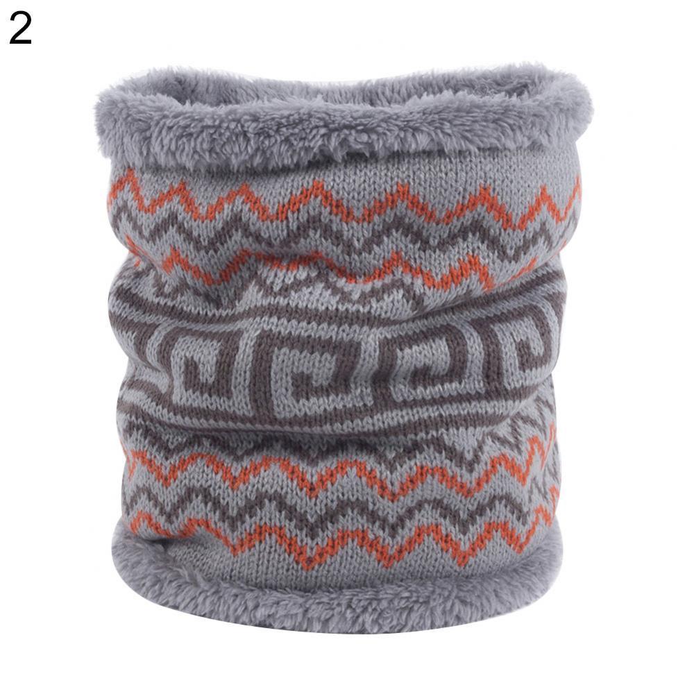 Женский зимний толстый мягкий дышащий Шарф с кольцом, толстый теплый вязаный шарф, шейный платок, женский модный дышащий вязаный шарф