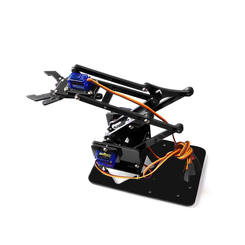 Garra Robot manipuladora de brazo mecánico de acrílico para desmontaje de 4 DOF, para Arduino Maker, Kit DIY de aprendizaje, Robot