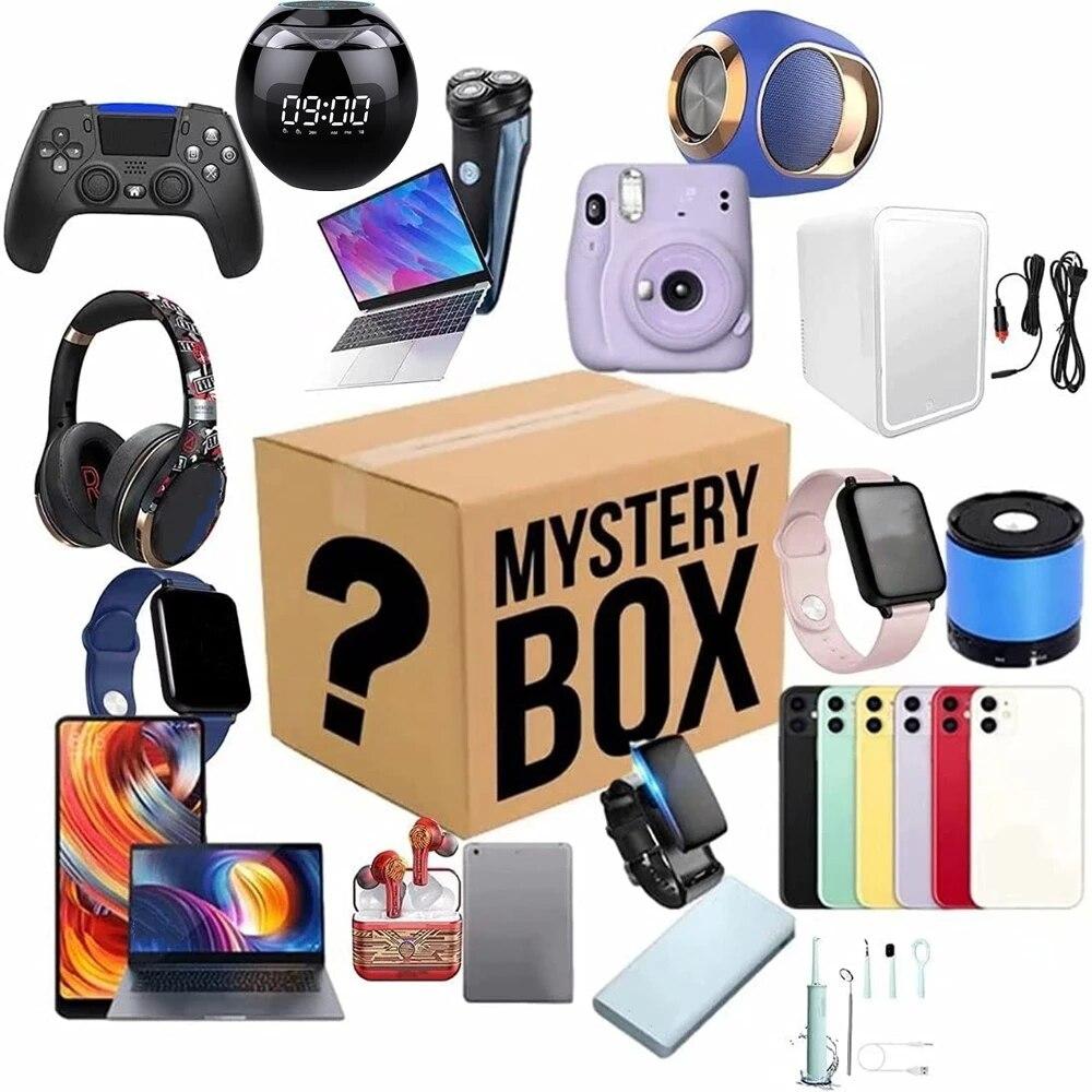 Цифровые электронные коробки для загадок на удачу есть шанс открывать: мобильный телефон, камеры, дроны, геймпады, наушники и другие подарки
