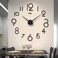 frameless diy wall clock 3d mirror wall clock large mute walls stickers for living room bedroom f2