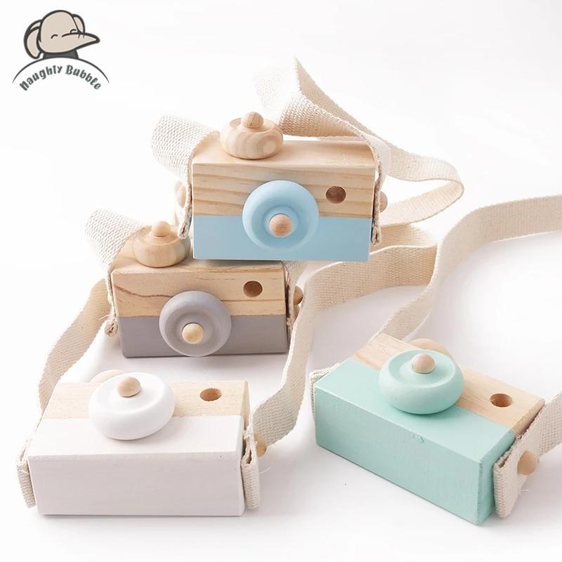 Деревянные модные детские игрушки с камерой, подвесные Детские игрушки Монтессори для детей, деревянные подарки «сделай сам», подарок для к...