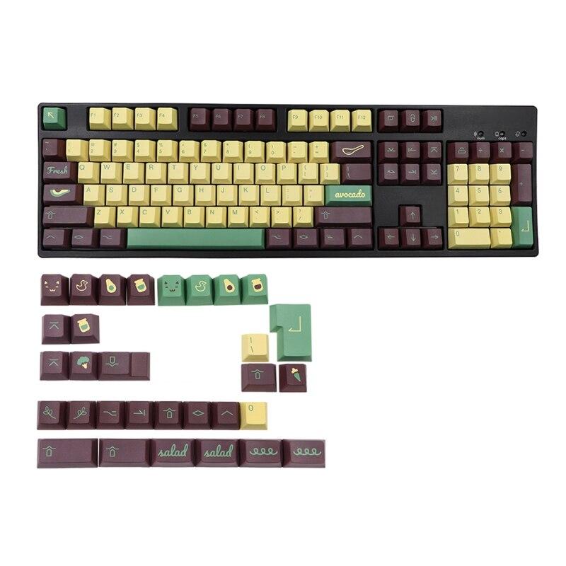 135 قطعة PBT Keycap الكرز الشخصي صبغ التسامي Keycap GK61 64 68 96 126 تخطيط