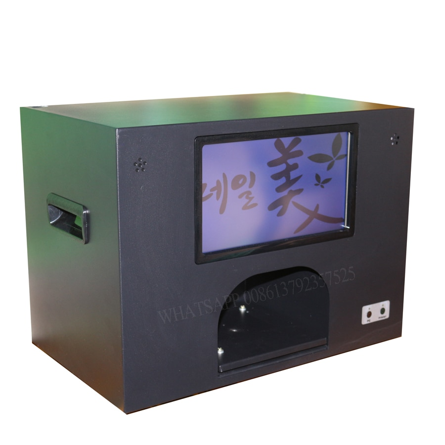 2020 nail art machine with screen and computer digital nail printer cartridge and polishes freely nail and flower printer
