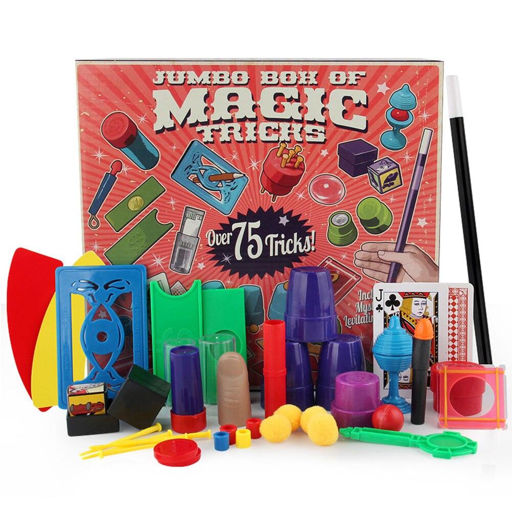 Juego divertido regalos profesionales Tarjeta de juguete niños trucos principiante Junior Simple con DVD enseñanza Magic Props Set