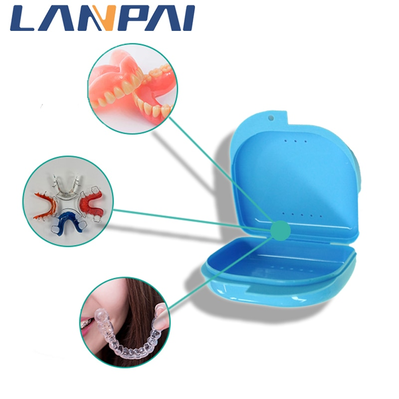 Lanpai стоматологический цвет перфорированная вентиляция автоклав ложный полный протез грили контейнер для запасов для зубных ящиков