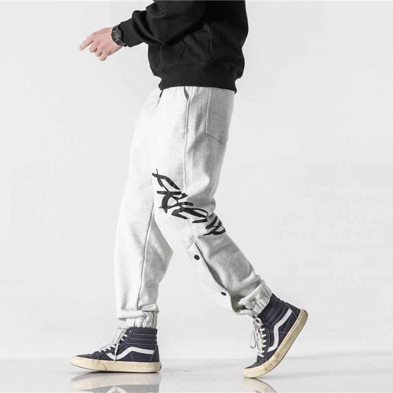 Spring 2021 New Monogram Print Sweatpants for Men Popular Logo Knit Breasted Loose Casual Pants Cargo Pants Men Streetwear