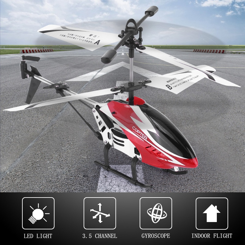 RC Helicopter 2.5/3.5 Channel RC Helicopter Kids Toys Model RC Plane Planes Drop-resistant Alloy Hel