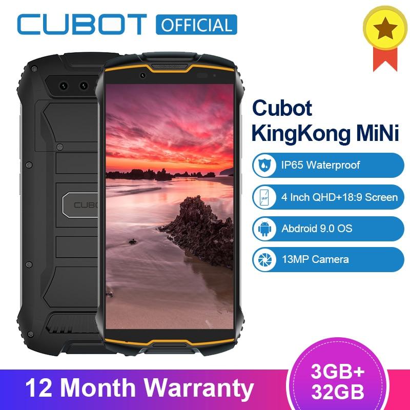 "Cubot KingKong MiNi 3GB + 32GB 4 ""QHD + 18:9 Bildschirm Android 9,0 MT6761 Quad Core IP65 wasserdicht 4G LTE Dual-SIM 2000mAh Smatphone"