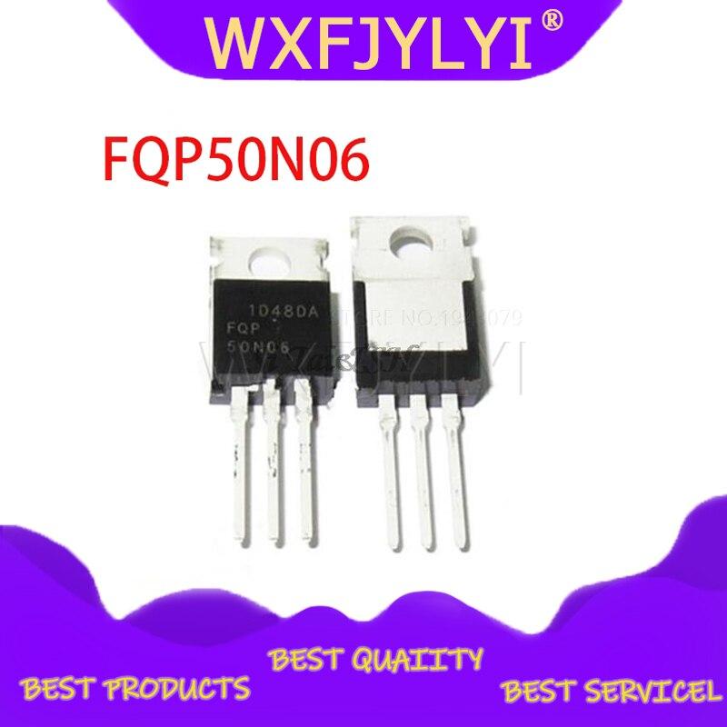 10 шт. FQP50N06 TO220 50N06 TO 220 Интегральные схемы      АлиЭкспресс