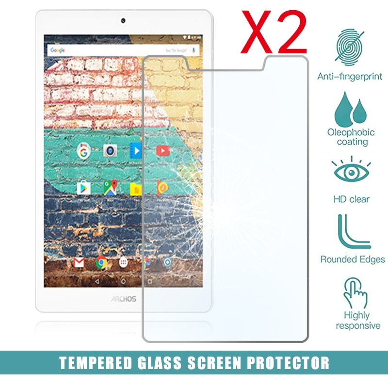 2Pcs Tablet Tempered Glass Screen Protector Cover for Archos 79b Neon HD Eye Protection Explosion-Proof Tempered Film