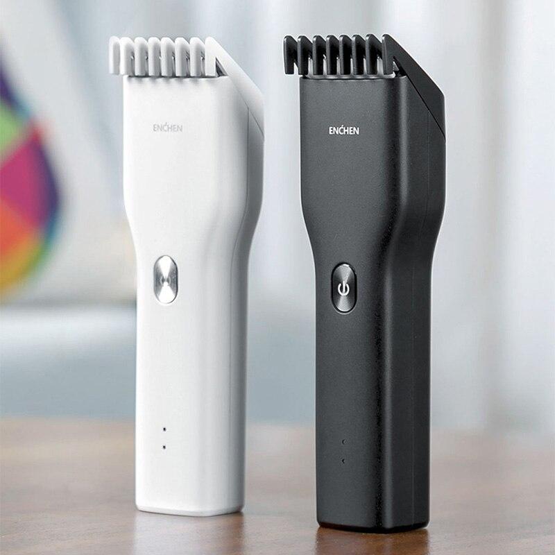 Xiaomi enchen máquina de cortar cabelo dos homens máquina de cortar cabelo aparador de cabelo usb carregamento pente ajustável 5