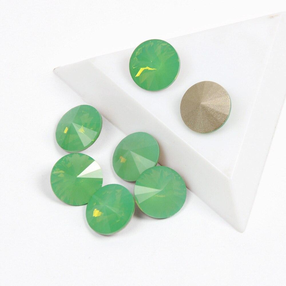 YANRUO 1122 Rivoli forma azul piedras de imitación tipo circón de uñas de alta calidad de cristal para la decoración de Arte de uñas