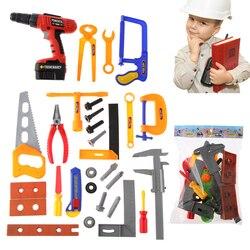 Conjunto de ferramentas de reparo júnior bebê crianças menino brinquedos construtor craftsman fingir jogar alta qualidade craftsman construtor seguro kits plástico brinquedos