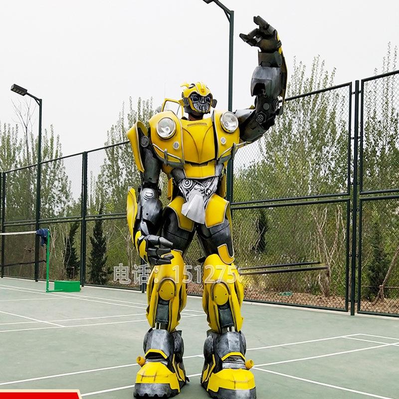 Armazón de escarabajo de Bumblebee para vestuario, espectáculo, evento, fiesta, Transformers, armazón de Cosplay con luces led cambiador de voz