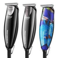 Kemei 100-240V Engraving Hair Clipper Men's 0mm Baldheaded Modelling Hair beard Trimmer Electric Carving oil head Hair Clipper