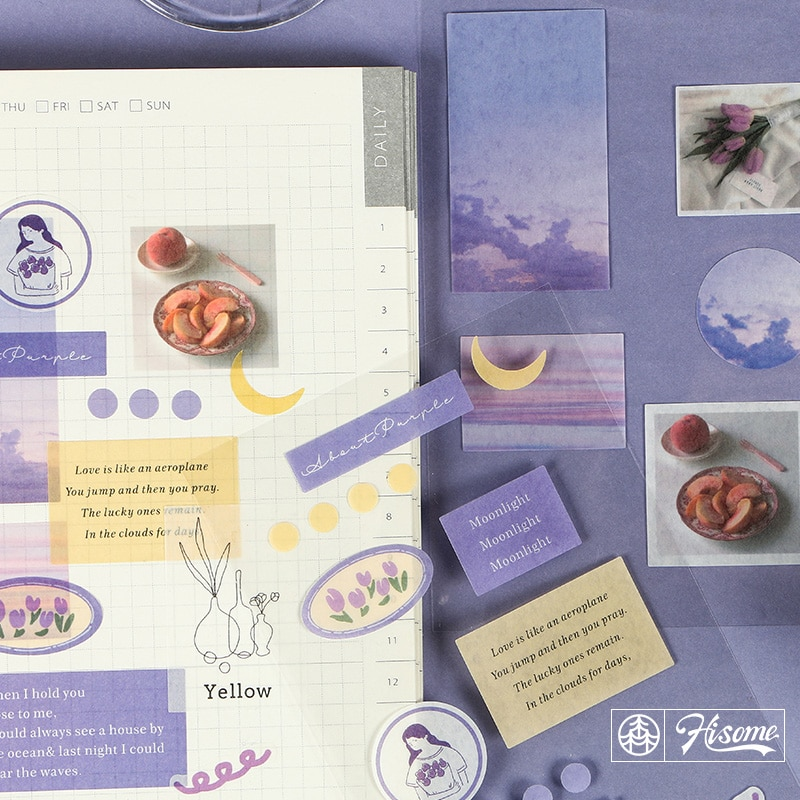 JIANWU 2sheets Creative fresh Retro style bullet journal diy Diary cute Life decoration material stickers kawaii School supplies