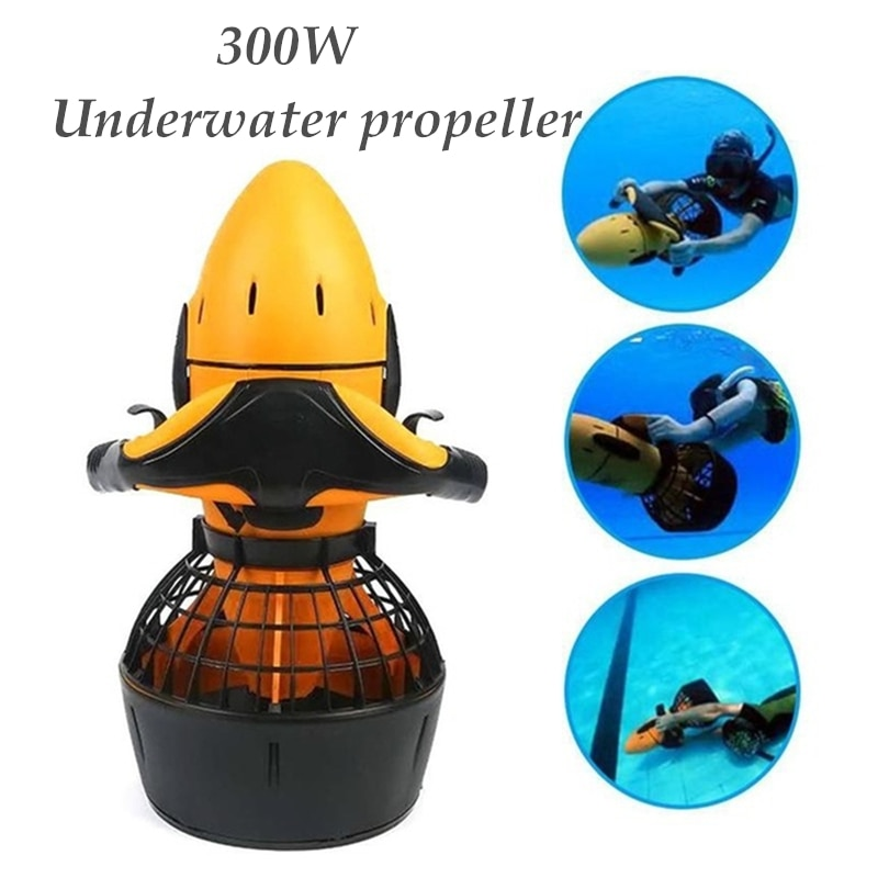 300W Electric Sea Scooter Diving Equipment Underwater Propeller Diving Pool Scooter with Bag for Swimming (not battery) enlarge