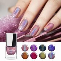 7ml holographic nail polish laser glitter top graded lacquer long lasting colorful varnish nail art polish dropshipping shipping