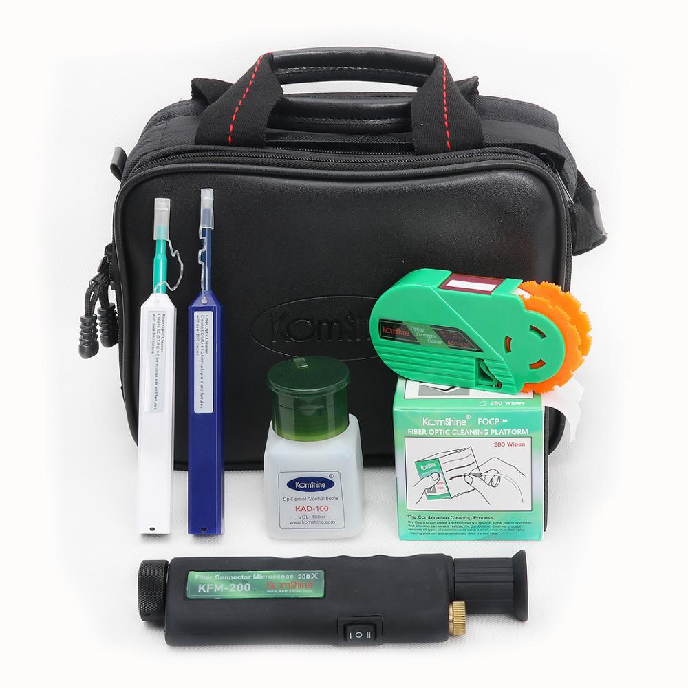 Kit de herramientas de fibra óptica kombshine KCI-6E incl. Microscopio de fibra óptica + 2,5/1,25mm FC/SC/ST/LC tipo lápiz limpiador