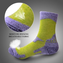 2/3 Pairs Skiing Climbing Socks Winter Men Women Moisture-wicking Perspiring Thick Thermal Socks For Outdoor Activities Running