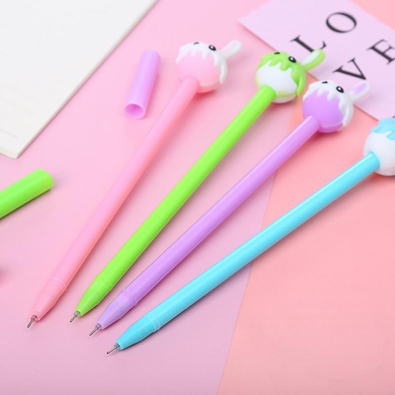 1 шт. Творческий мультфильм студент в виде кролика; Модельная гелевая ручка для офиса письменные принадлежности пластиковые подарочные руч...