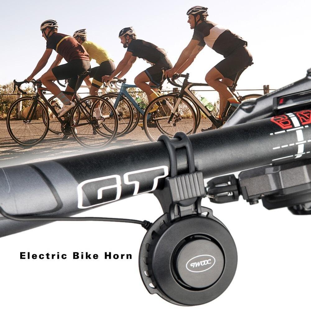 Campana eléctrica para bicicleta de montaña, claxon electrónico para bicicleta con carga USB, resistente al agua, accesorios para ciclismo al aire libre, equipo para montar en bicicleta