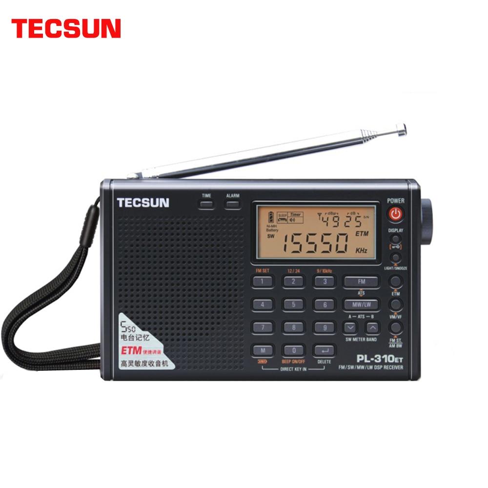 Tecsun PL-310ET كامل راديو الرقمية المستخلص FM/AM/SW/LW راديو ستيريو المحمولة راديو ل الإنجليزية الروسية المستخدم
