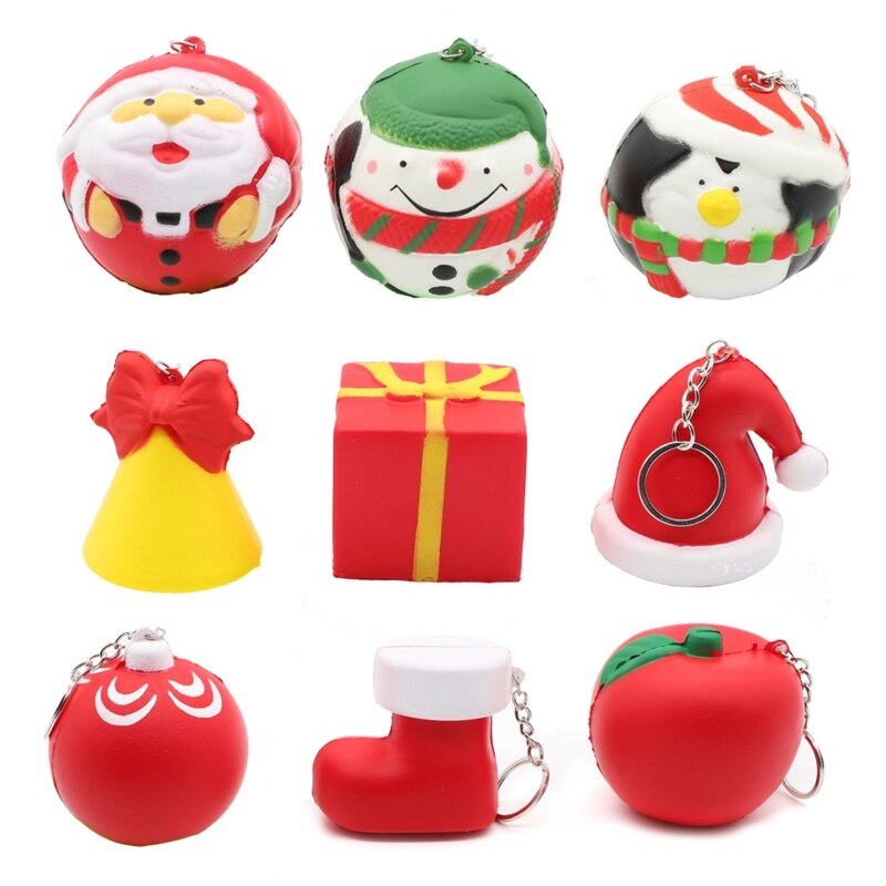 2020 Funny New Christmas Gift Xmas Squishy Squeeze Toys Slow Rising Cream Scented Antistress Child Kid Baby Toys enlarge