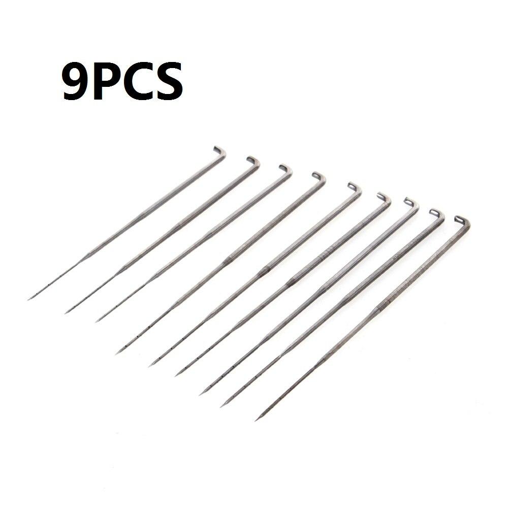 9 unids/set tamaño mixto lana de fieltro de aguja de fieltro conjunto de botella de kit para manualidades bricolaje utensilios para costura con aguja accesorios para labor de retazos