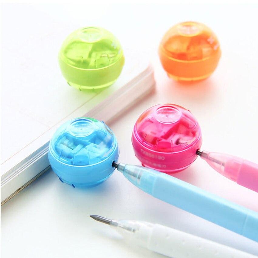 Профессиональная пластиковая точилка для карандашей с двумя отверстиями, точилка для карандашей, инструмент для рисования для взрослых, по...