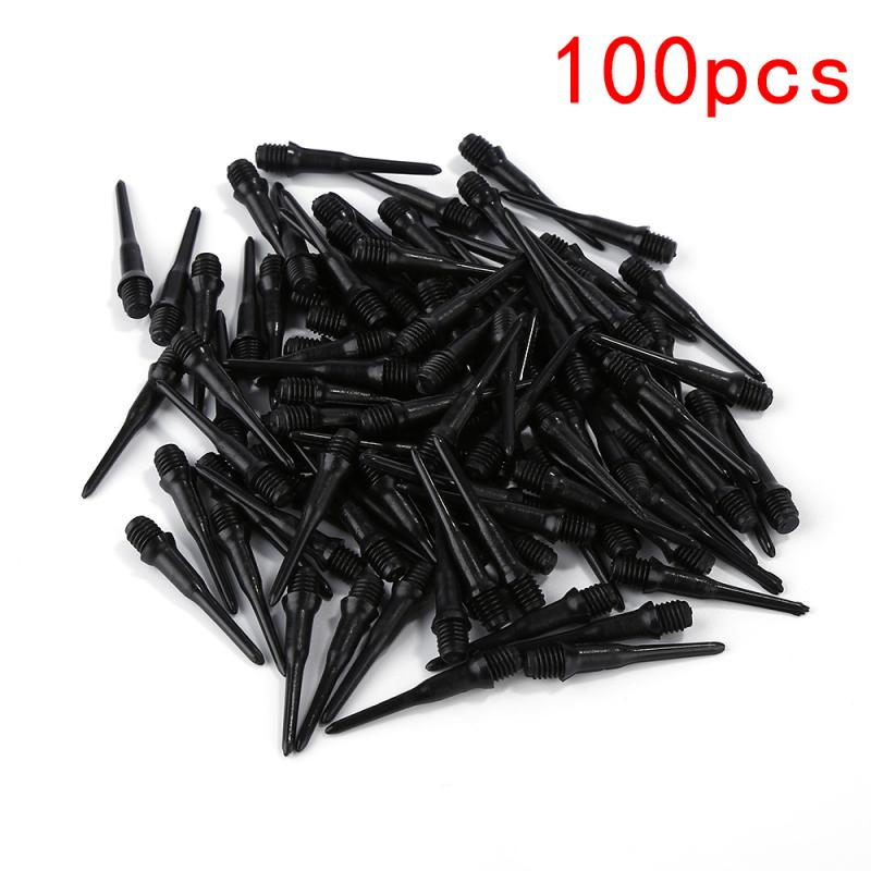 100 PCS Durable Soft Tip Points Needle Replacement Set For Electronic Dart Black Indoor Outdoor Entertainment Products TXTB1