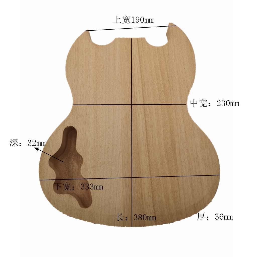 Okoume cuerpo de guitarra de caoba cuerpo semihueco DIY Kit para manualidades para guitarra SG