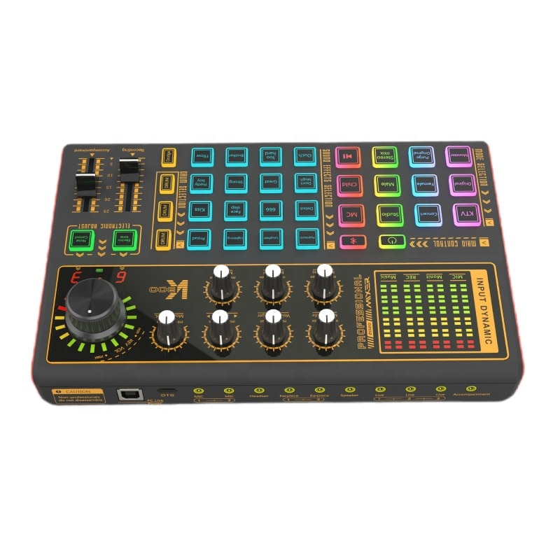 SK300 Mixer Shaking Sound Live Equipment Mobile Phone Computer General Top Quality USB External Multi-function Sound Card Type