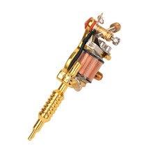 Technologie de coulée chaude unisexe or et argent 8 Warps bobines GS100 mode Mini pistolet tatouage Machine pendentif jouet avec chaîne or
