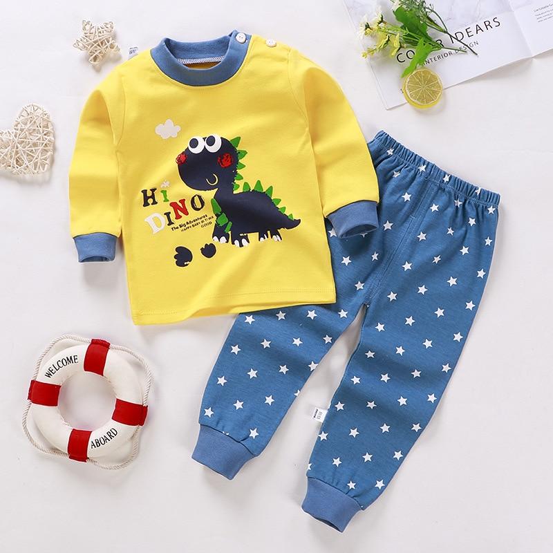 Baby Girl Clothes Pajamas Set Autumn And Winter Boys Pajamas Kids Home Clothes Cotton Pajamas Children Indoor Clothes Pajamas Se