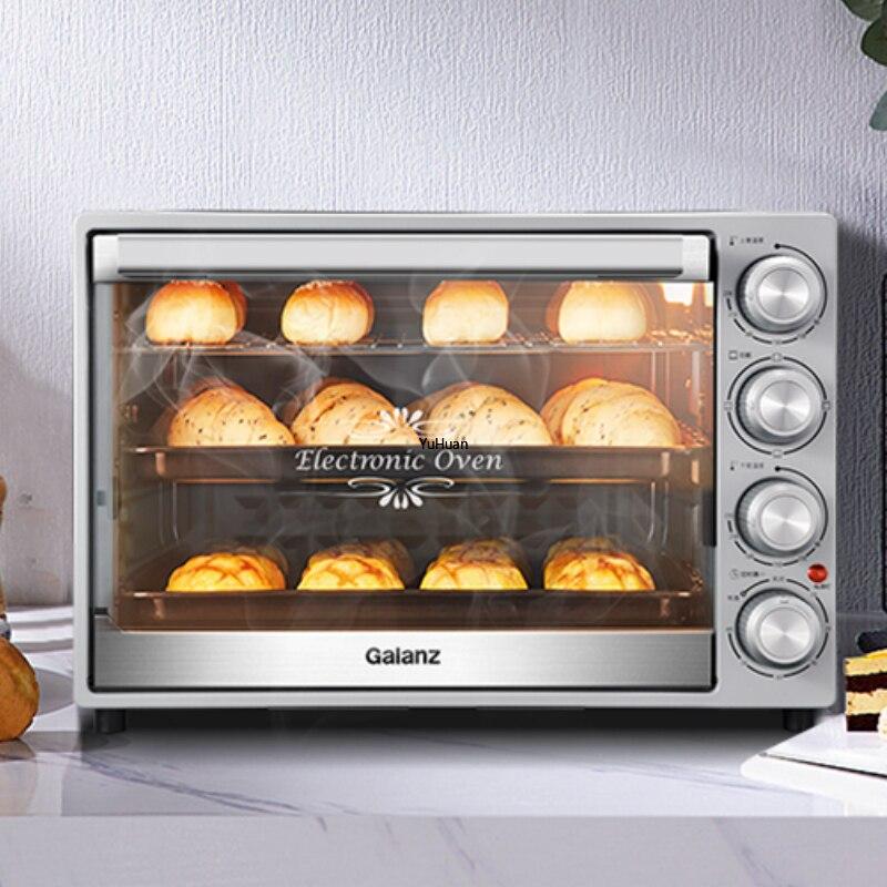 Horno de gran capacidad de 40L, horneado en casa, pequeño automático, multifuncional, para Pizza, horno, aparatos de cocina eléctricos