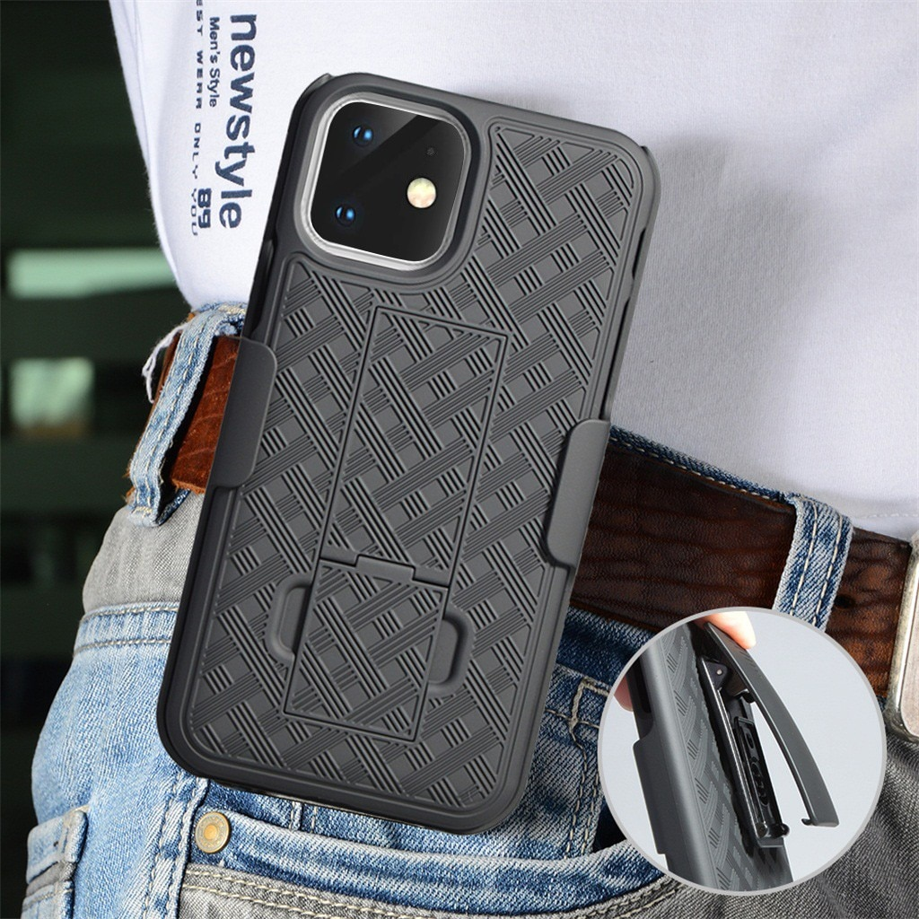 Чехол для iPhone 11, 6,1 дюймов, для iPhone 11pro, 5,8 дюймов, для iPhone 11pro MAX, 6,5 дюймов, черный тонкий чехол из поликарбоната, Жесткий Чехол, зажим для ремня