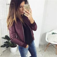 Laipelar New Women Short Jacket 2019 Casual Cotton Autumn Coat Women Warm Spring Black Ladies Basic
