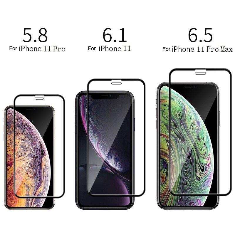 9H Full Cover Protective Tempered Glass For iPhone 11 Pro Max Screen Protector