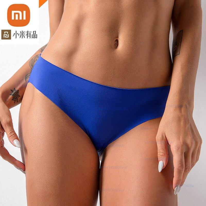 Xiaomi 3 uds de seda de hielo bragas Sexy mujer piel-amistoso cómodo ropa interior de moda transpirable de alta elástico ropa interior
