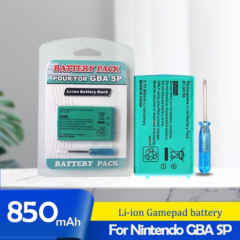 1PCS 3,7 V 850mAh Für Nintendo Gameboy Advance GBA SP akku + Werkzeug Pack Kit Lithium-Li ionen Batterie Pack