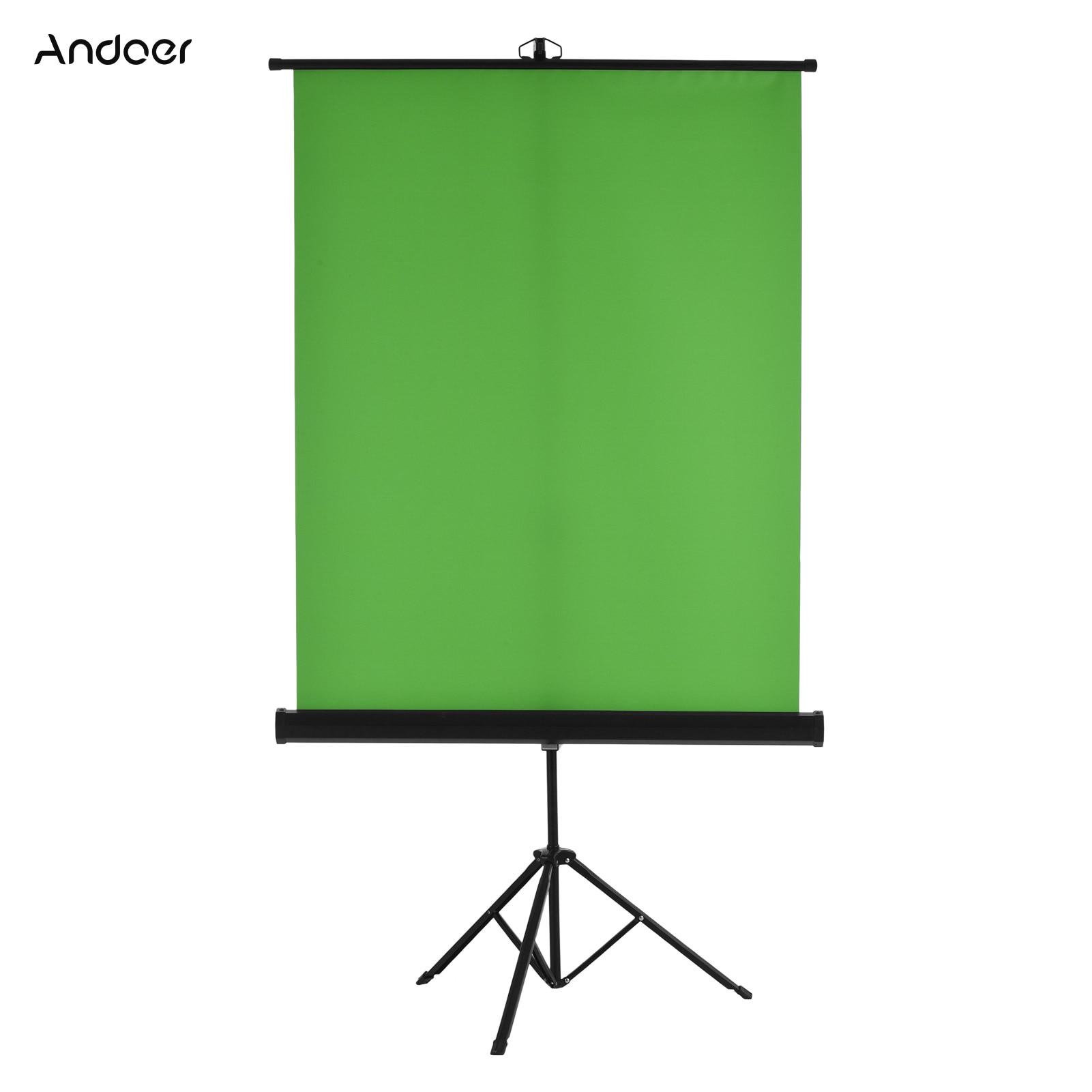 Andoer 1.5*1m/ 4.9 * 3.2ft المحمولة المنقولة شاشة خضراء خلفية كروماكي المهنية مع التجاعيد عالية الجودة