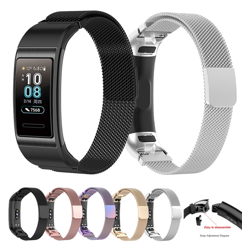 Para Huawei Band 4 Pro TER-B29S /band 3 Pro, pulsera inteligente, Correa magnética milanesa, correa de acero inoxidable, correa de reloj, pulsera