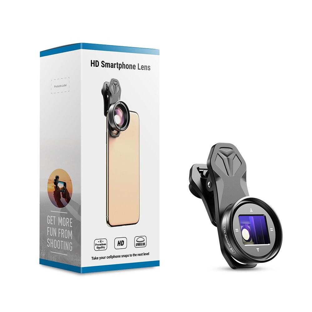 Lente anamórfica APEXEL 1.3x, lente de película Slr de pantalla ancha 4K HD Vlog, película de deformación para iPhone, Huawei y smartphones