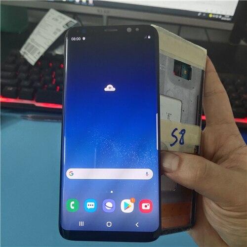 Super amoled lcd para samsung galaxy s8 g950 g950f display lcd digitador da tela de toque tem pixels mortos sem moldura
