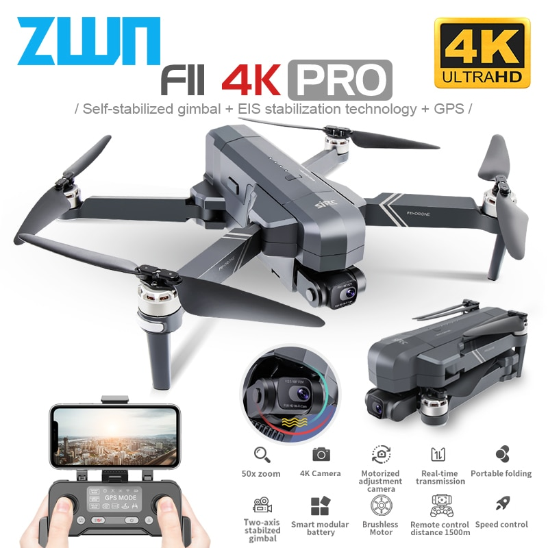 SJRC F11 PRO 4K GPS Drone With Wifi FPV 4K HD Camera Two-Axis Anti-Shake Gimbal F11 Brushless Quadcopter Vs SG906 Pro 2 Max Dron