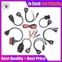 Новинка Полный комплект 8 шт. автомобильных кабелей OBD2 Диагностический Инструмент OBD OBDII OBD 2 Соединительный кабель для vd ds150e cdp Pro Plus интерфейсный сканер