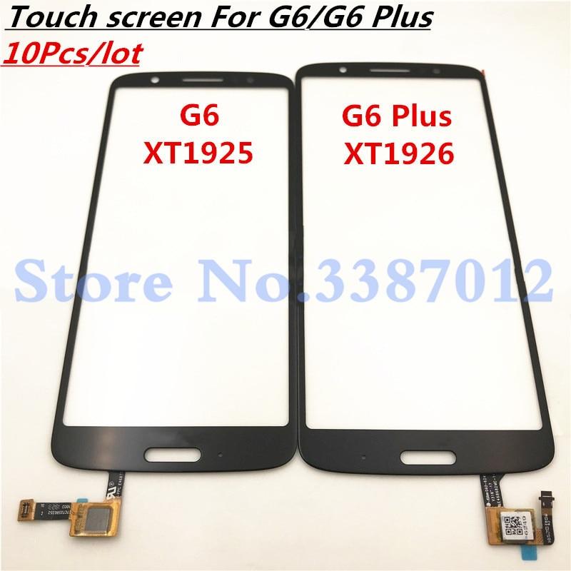 10 piezas de pantalla táctil Sensor para Motorola Moto G6 XT1925/G6 más XT1926 pantalla táctil de vidrio de Panel de repuesto de reparación partes