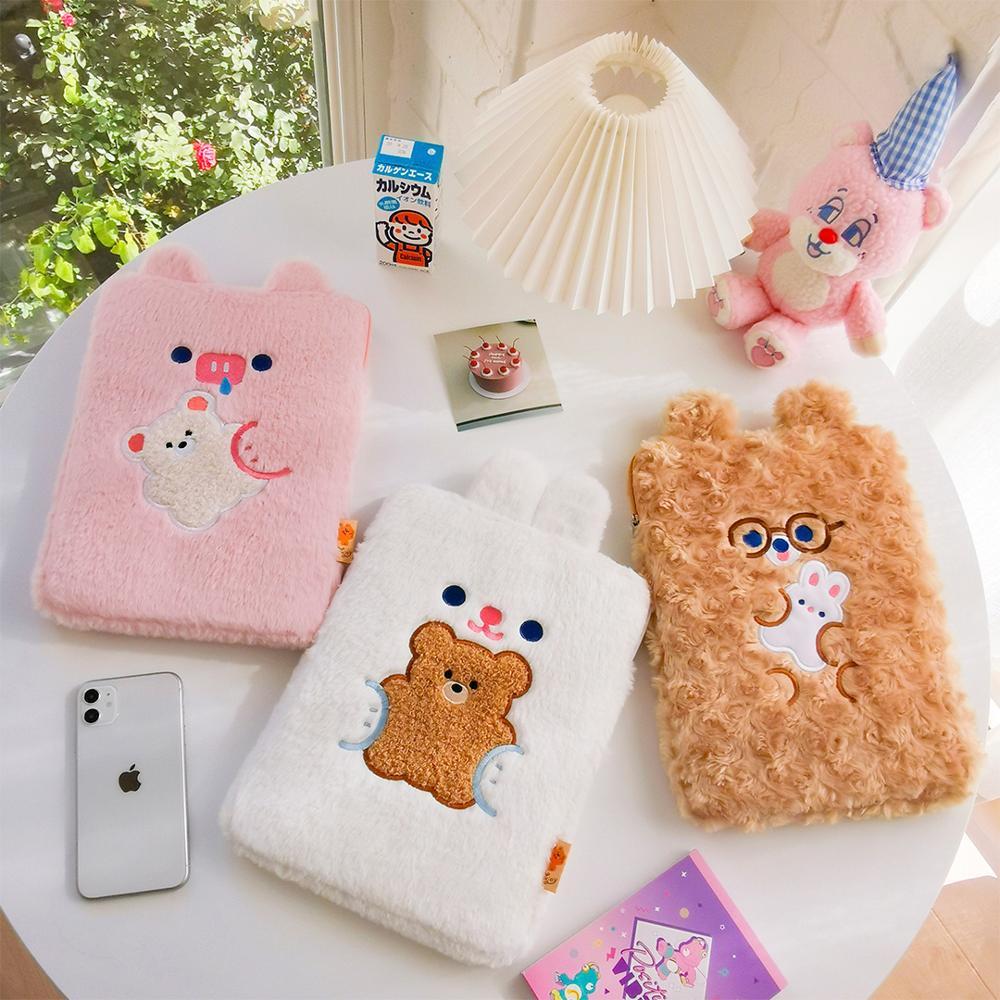 Ipad pro 11 caso 2020 novo estilo coreano urso bonito meninas air1/2/3/4apple 9.7 10.2 10.5 polegada tablet viagem bolsa de negócios